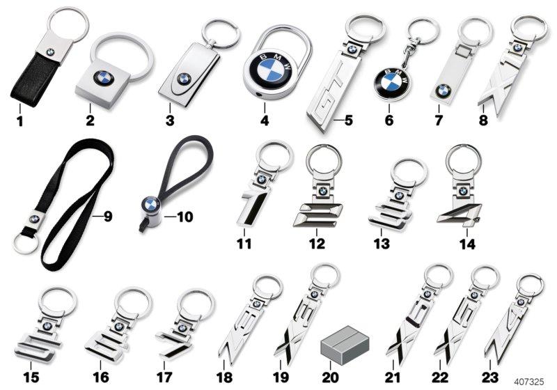 BMW Genuine Key Ring Pendant Metal Keychain Charm Keyfob 5