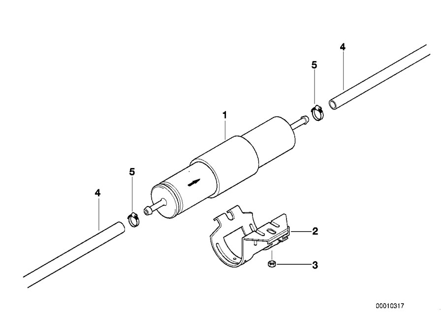 BMW Genuine Fuel Filter E36/E46 3 Series, Z3 13327512019