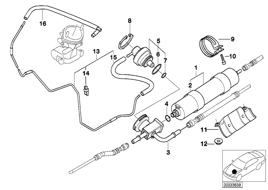 BMW Genuine Fuel Filter E39/E52 5 Series M5/ Z8