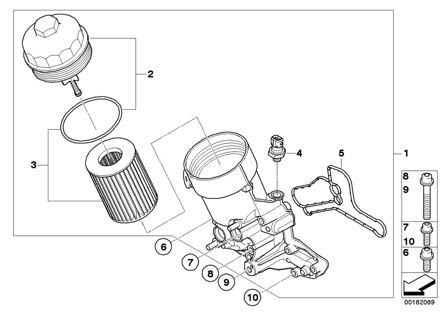 BMW Genuine Set Oil Filter Element E90/E92/E93 3 Series M3