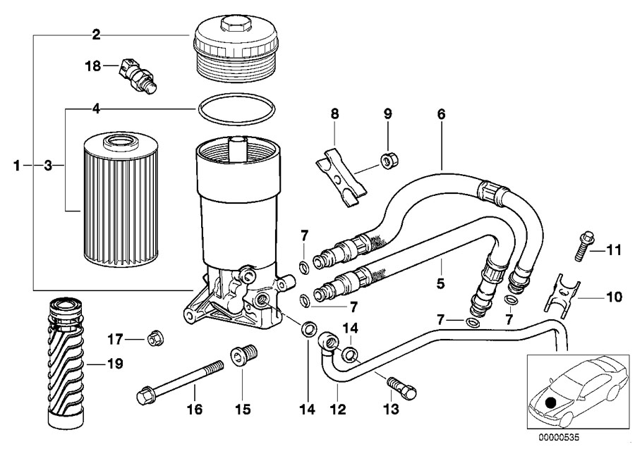 BMW Genuine Oil Filter Cover E38/E39/E52/E53 5/7 Series