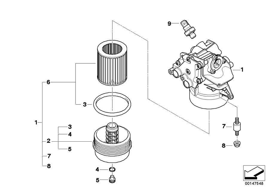 BMW Genuine Set Oil Filter Element E60/E61/E63/E64 5/6