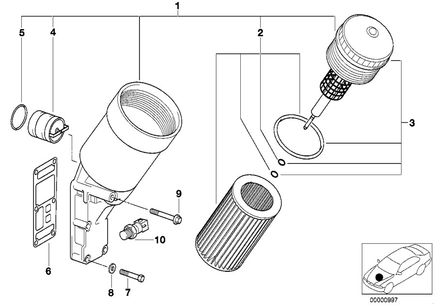 BMW Genuine Set Oil Filter Element E36/E46 3 Series/Z3