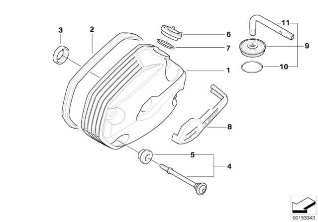 Genuine BMW Motorrad Right Cylinder Head Cover Spark Plug