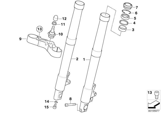 Genuine BMW Ball Joint M14 For Bottom Fork Bridge Brace R