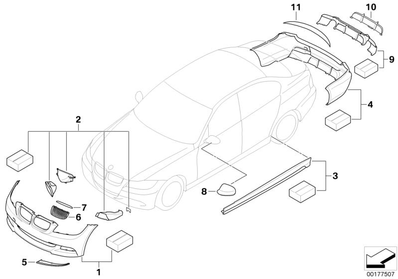 BMW Performance Genuine Aerodynamic Side Skirt Sill Kit
