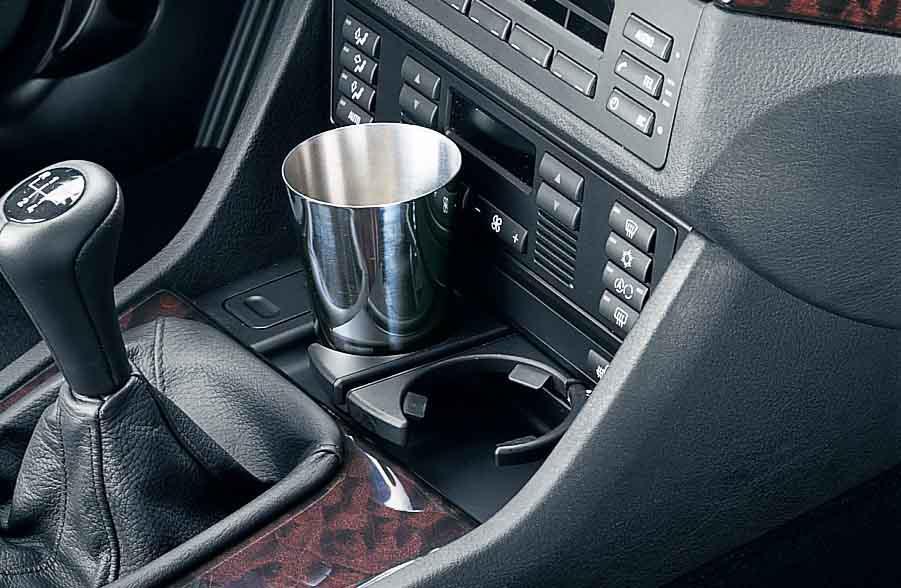 BMW Genuine Front Center Console DrinkCup Holder Black