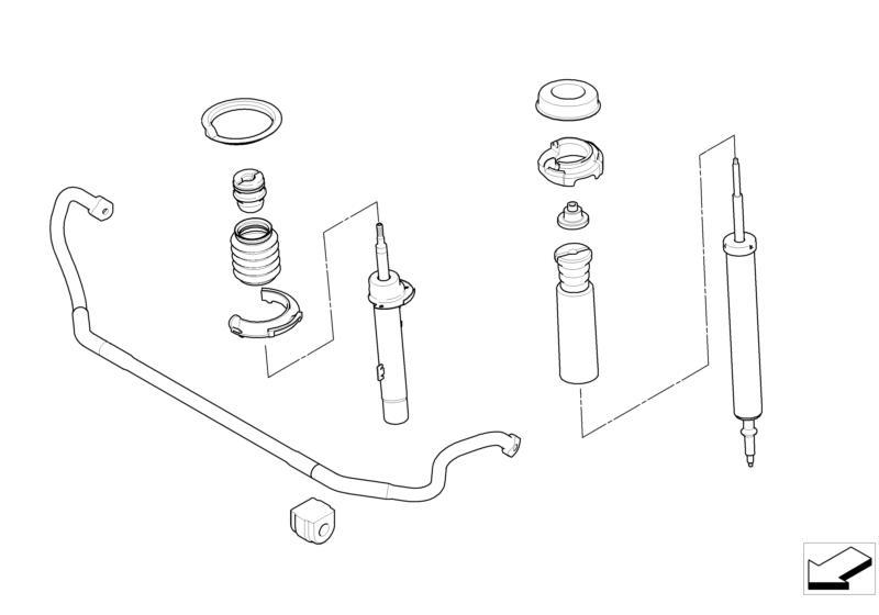 BMW Performance Sports Suspension Retrofit Kit E81/E82/E87