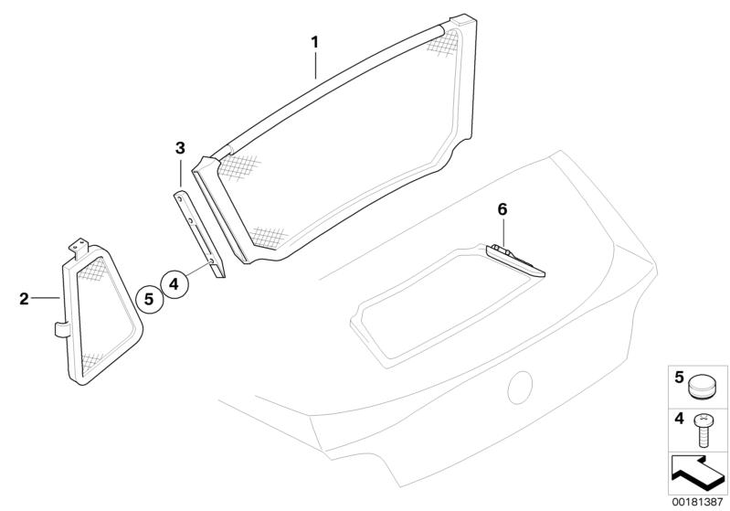 BMW Genuine Wind Deflector Mounting Parts Set E85 Z4