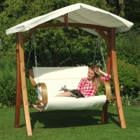 Canopy Swing Seat & Coral Coast Long Bay 2 Person Canopy ...