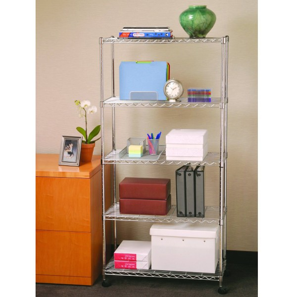 Wire Metal Shelving Storage With Wheels X5 Tier Shelf Kitchen Utility Shelves