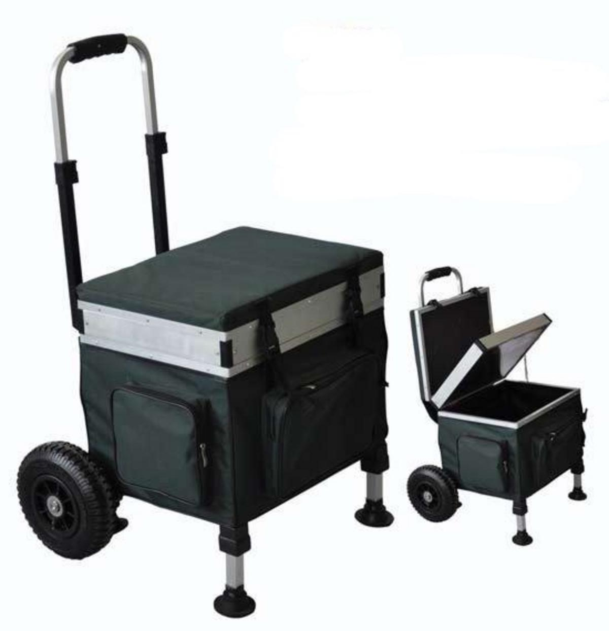 fishing chair box parsons chairs ikea bison trolley seat barrows and trolleys mad