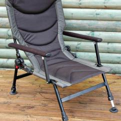 Fishing Chair With Arms Leap Office Chairs Bison Delux Carp Adjustable Legs Back Recliner Thumbnail 1