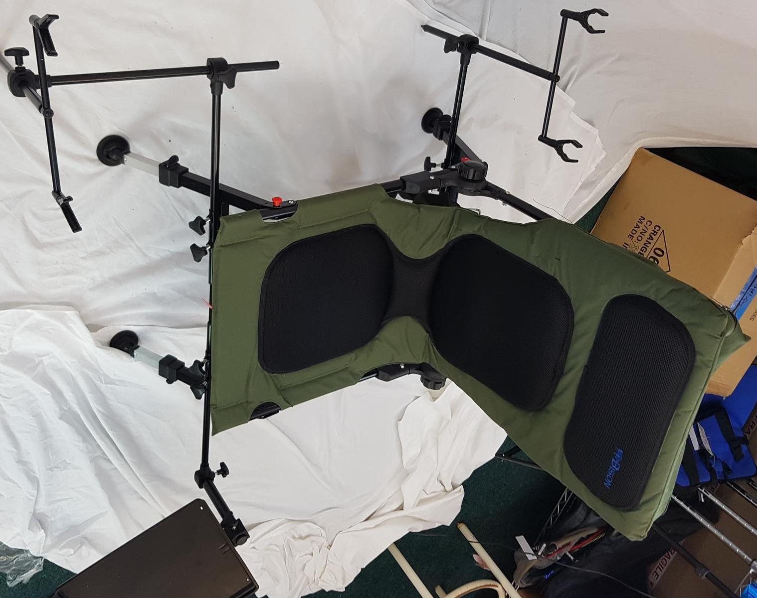 fishing rod chair bar stool legs bison delux carp station pod bivvy