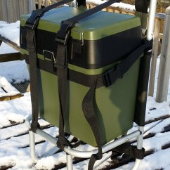 Fishing Roving Chair Plastic Outdoor Bison Seat Box And Alloy Sherpa Backpack Carrier
