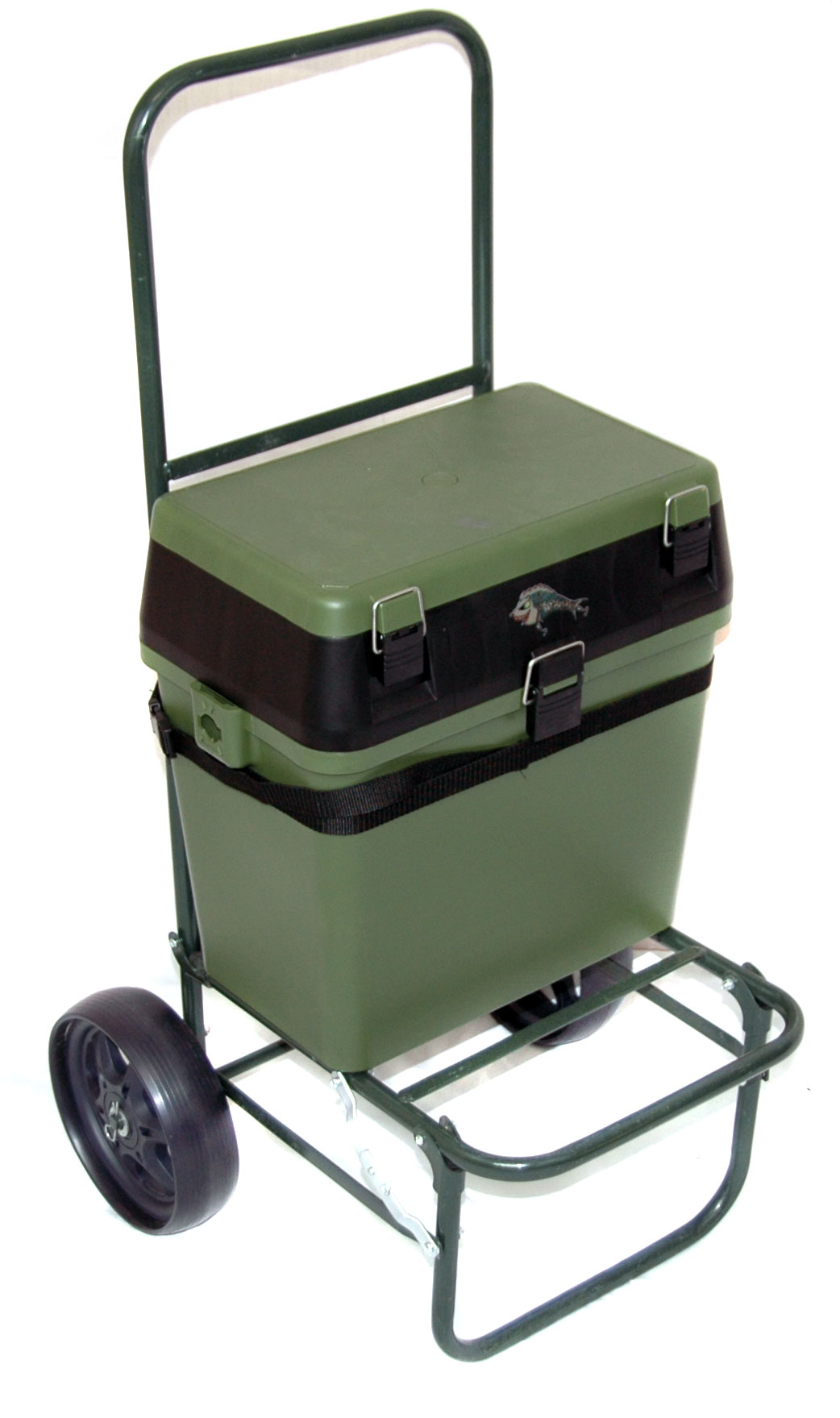 fishing roving chair yoga ball bison seatbox trolley complete with seat box ebay