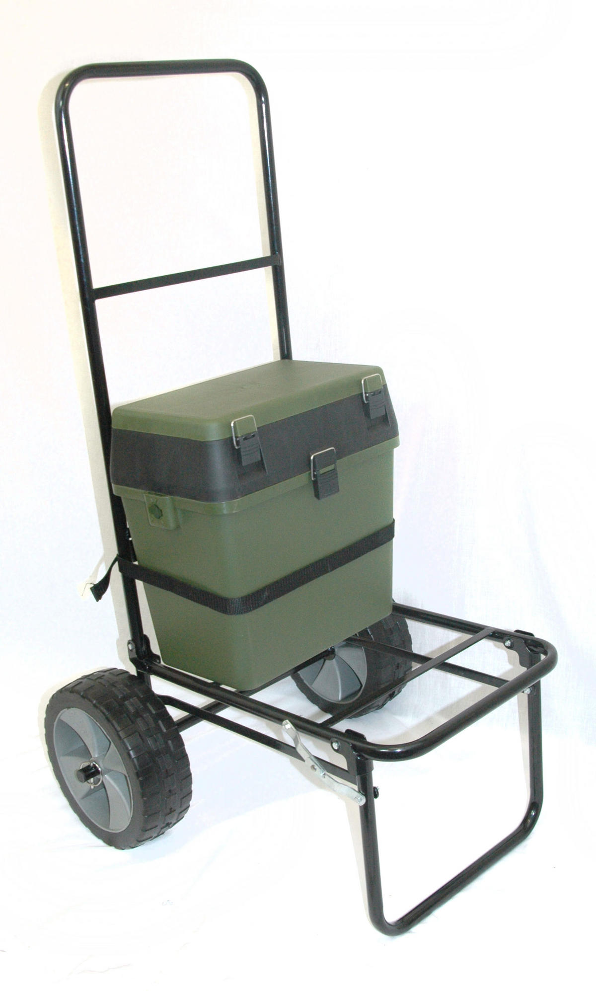 fishing chair box hanging youtube folding seatbox trolley and barrows