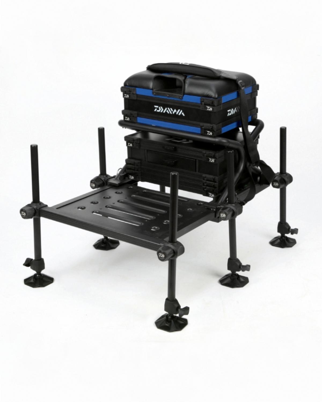 daiwa fishing chair square pub table and chairs tournament x 250 seat box blue boxes