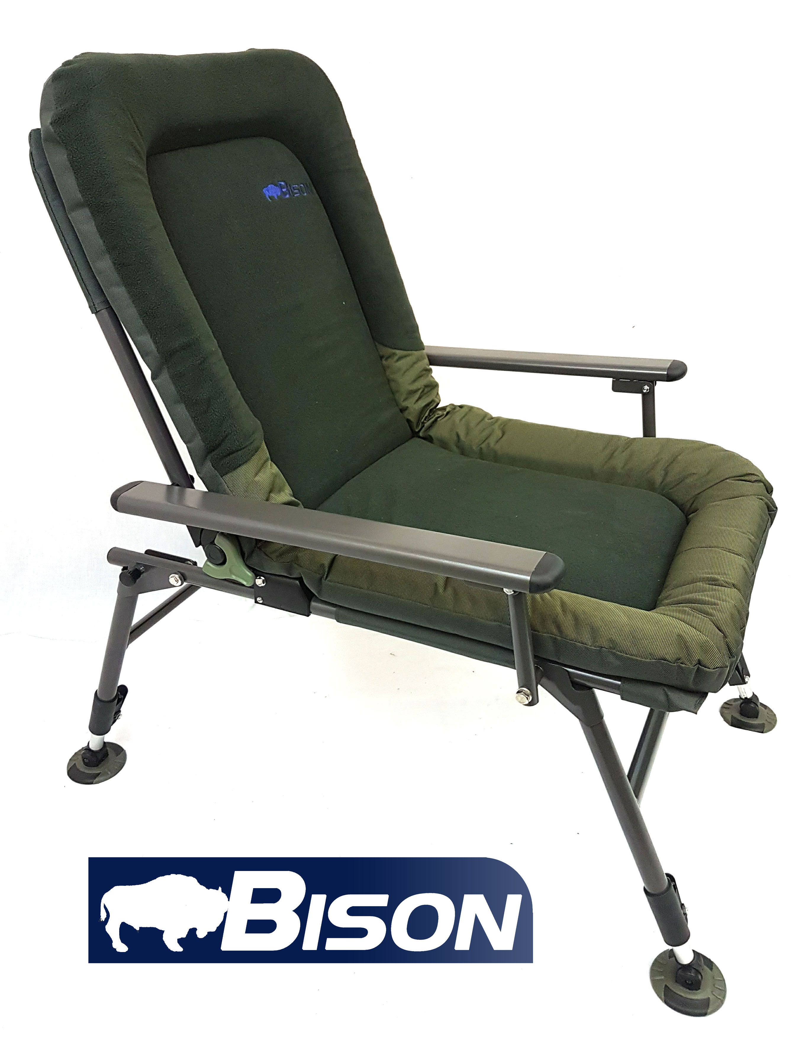 fishing chairs industrial dining bison carp chair ebay
