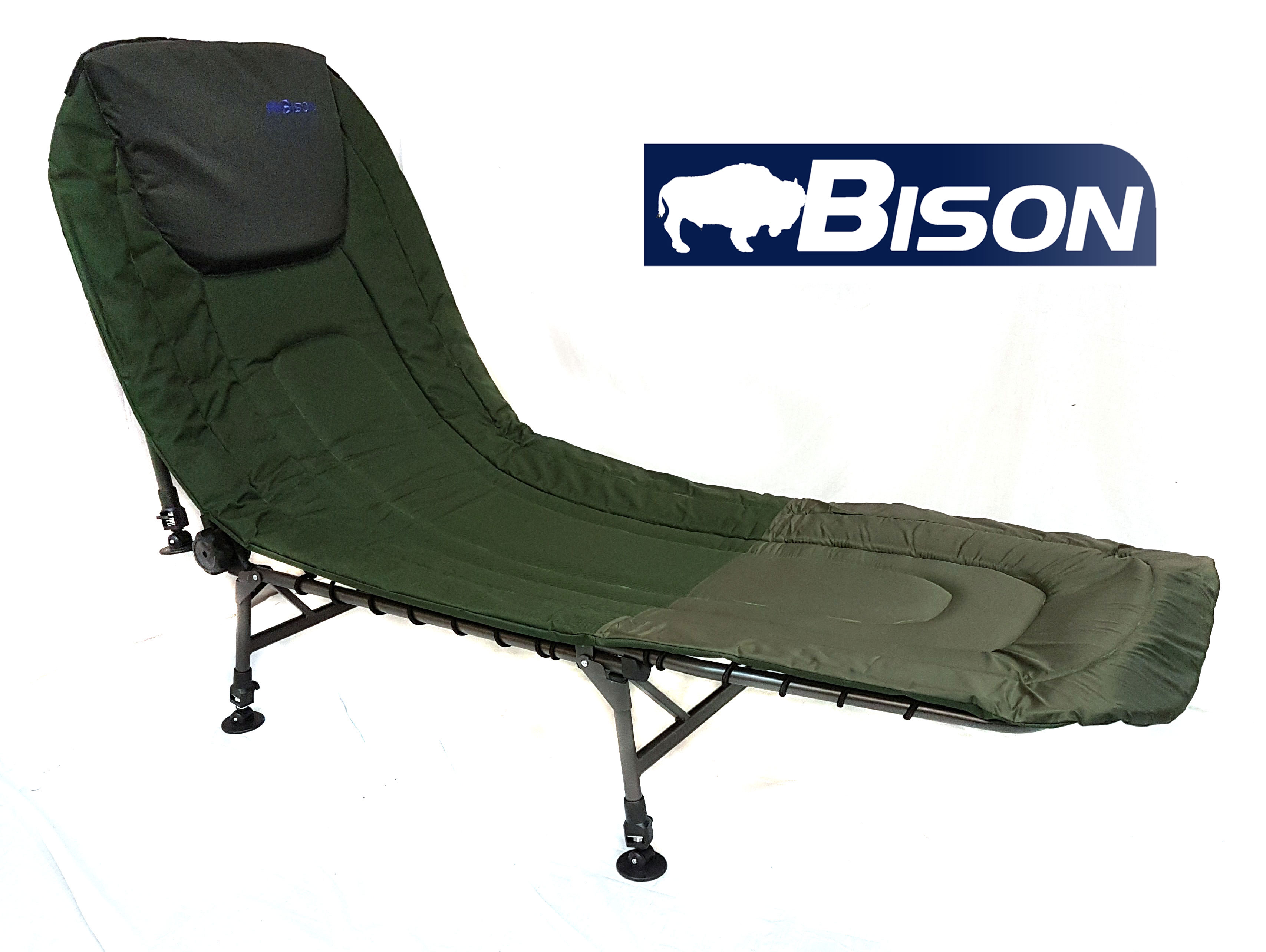 fishing bed chair used bar height bison carp bedchair