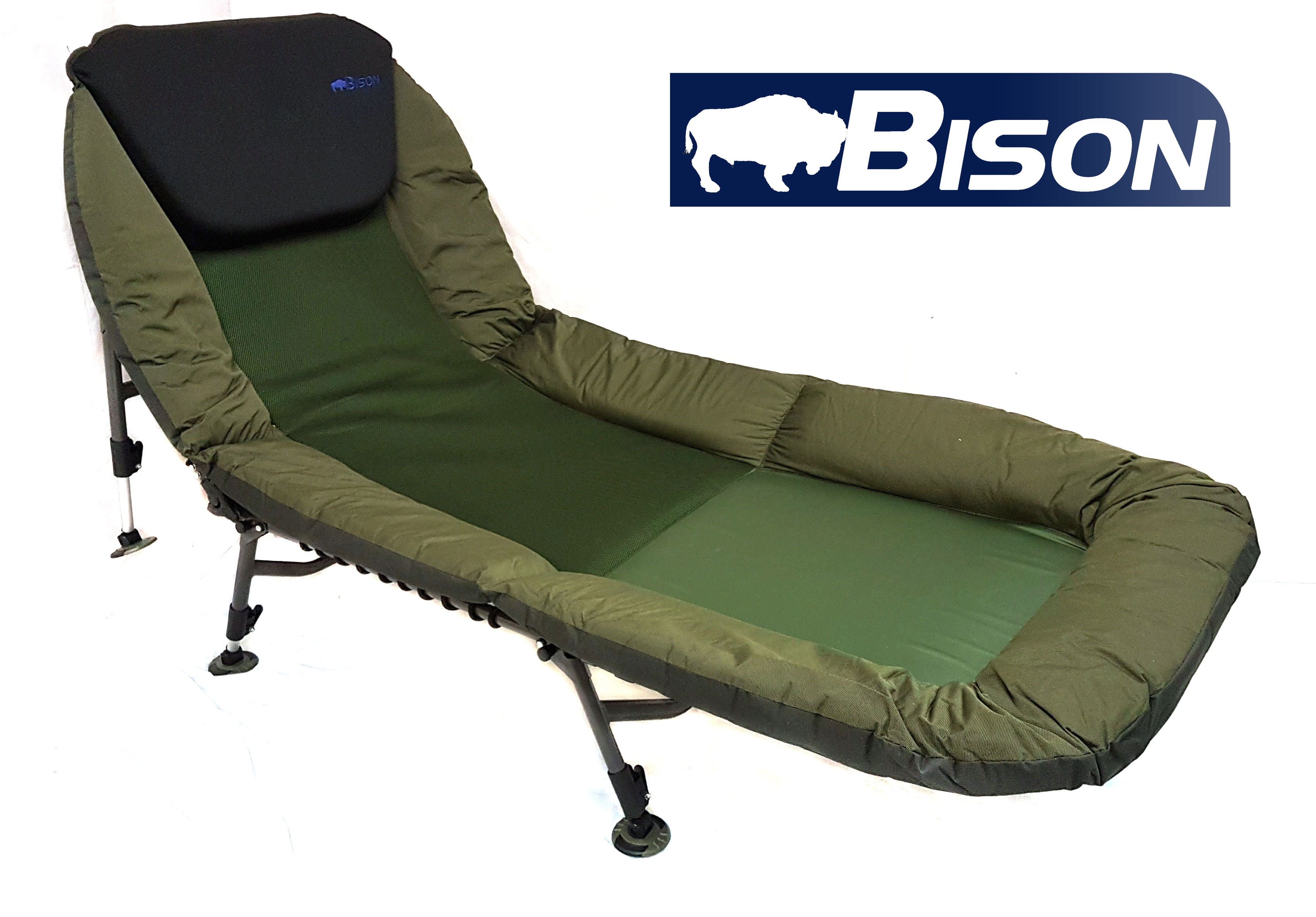 fishing chair uk caramel leather dining chairs bison carp bed bedchair
