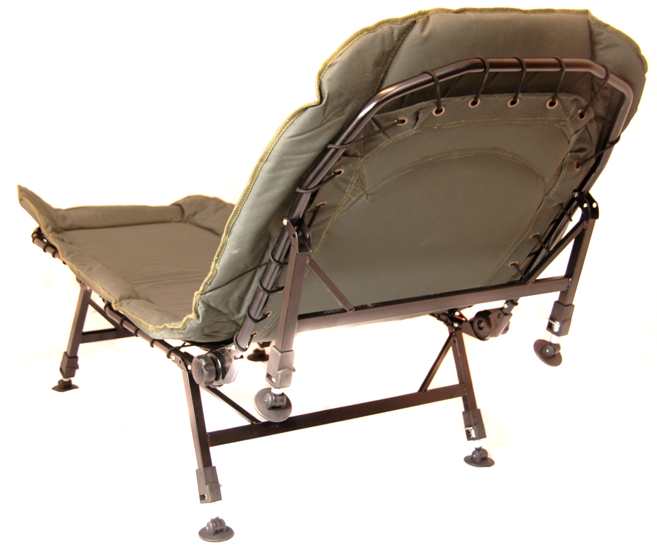 chair leg fishing floats jason recliner covers australia bison six bedchair free next day delivery
