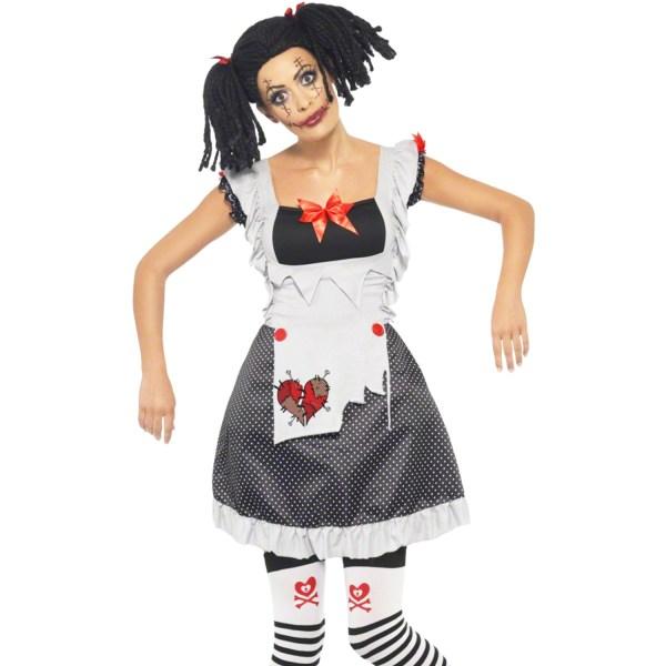 Womens Sexy Dead Rag Doll Halloween Gothic Fancy Dress