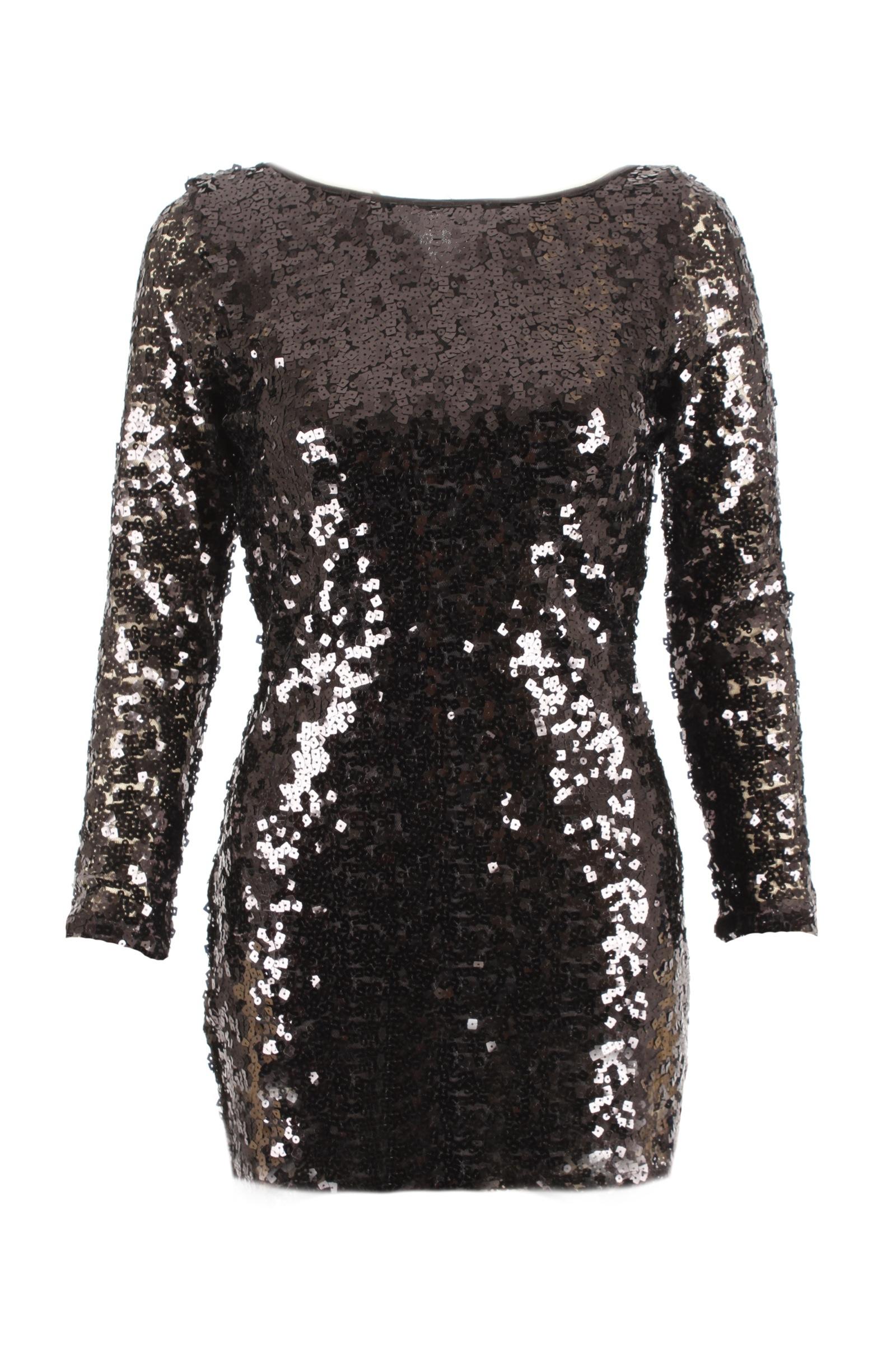New Womens Long Sleeve Sequin Dress  eBay