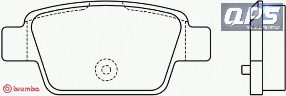 ALFA ROMEO MITO (ZAR 955) 1.4 Brembo Rear Brake Pads 09/08