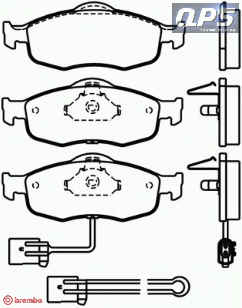 Ford USA Contour 2 Brembo Front Brake Pads 09 96 08 00