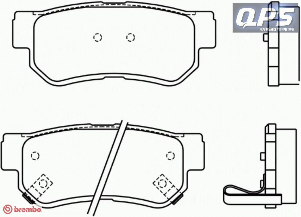 for Hyundai GETZ (TB) 1.5 CRDi Brembo Rear Brake Pads 08