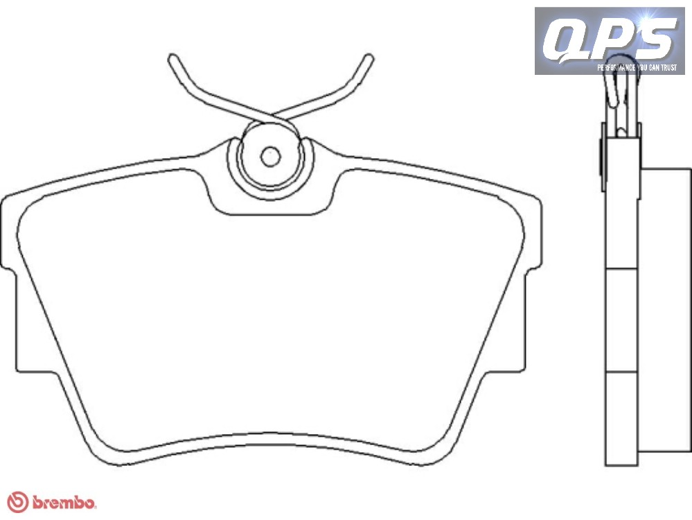 OPEL VIVARO Combi (J7) 2.0 CDTI Brembo Rear Brake Pads 08