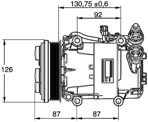 Ford Focus Mk2 2004-2012 Air Con Compressor A/C
