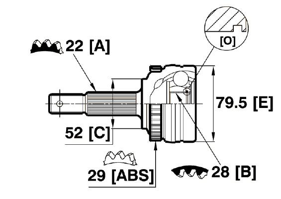 Opel Corsa B 1993-2000 Constant Velocity Cv Joint Kit