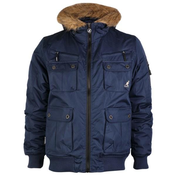 Mens Hoodie Kangol Faux Fur Lined Winter Hooded Parka