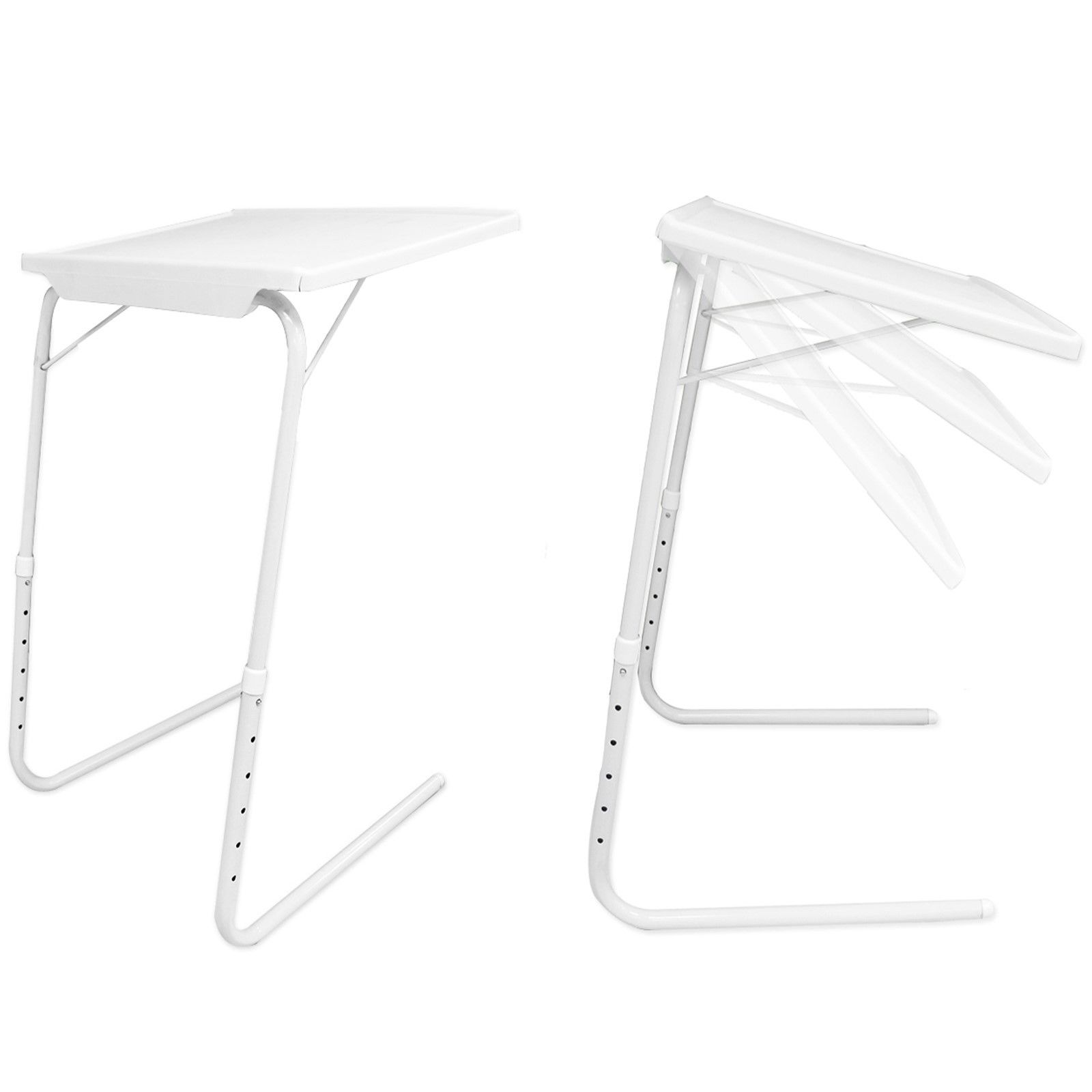 White Folding Foldable Portable Mate Tv Dinner Laptop Tray
