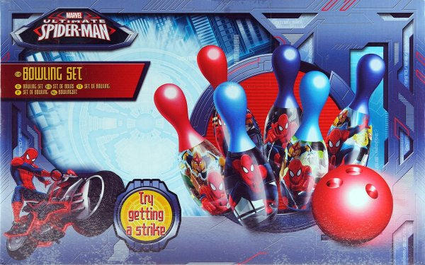 Marvel Spiderman Ten Pin Bowling Skittles And Plastic Ball