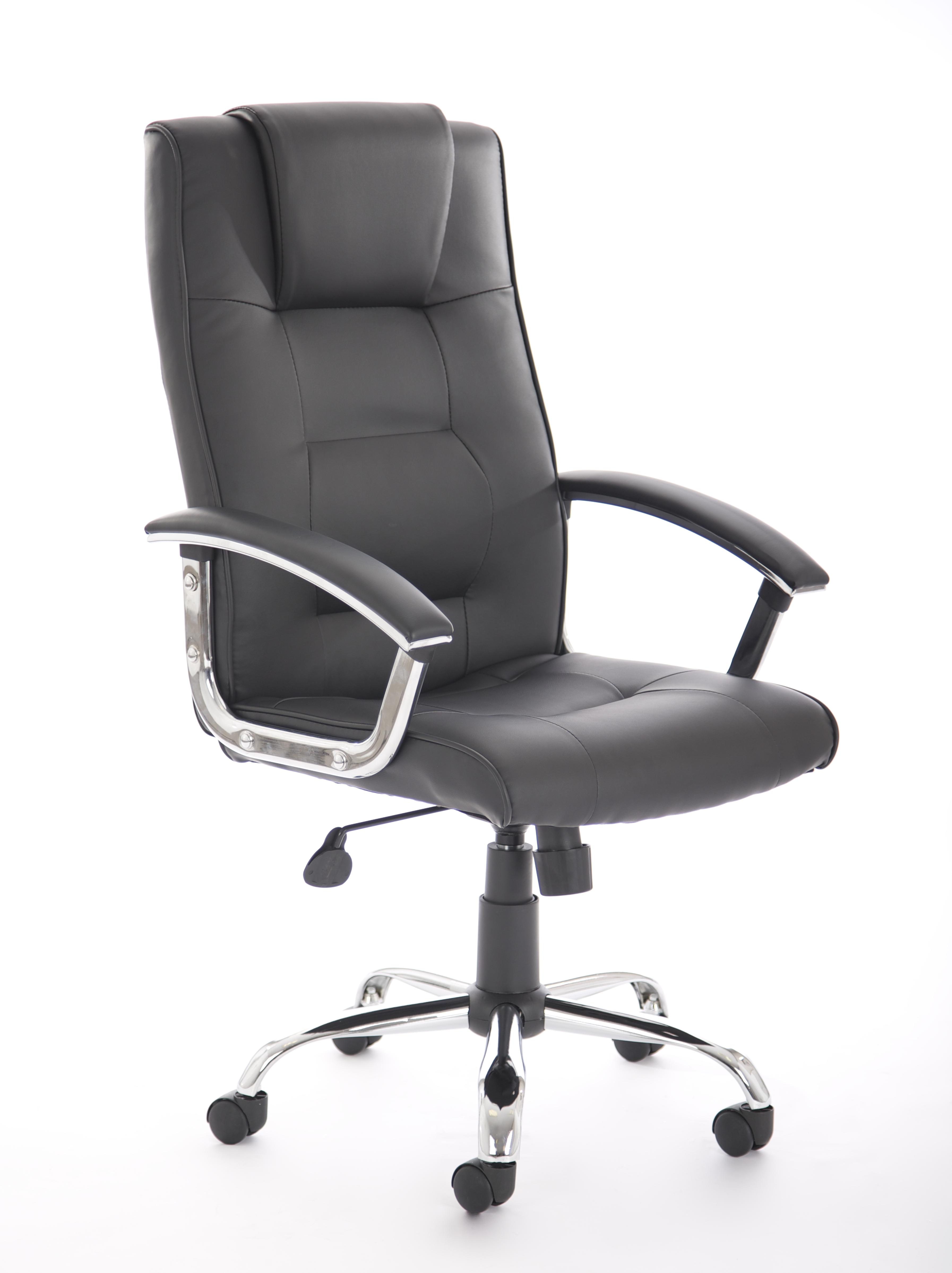 swivel office chair no arms bow ties for chairs thrift high back bonded leather executive managers