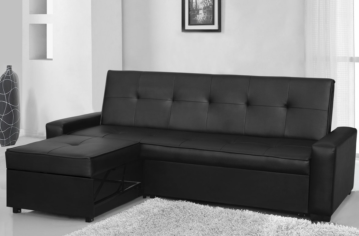 modern design sofa seattle fabric and leather in same room designer black faux l shape