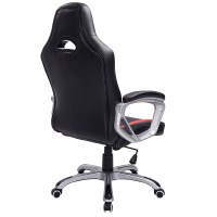 Office Gaming Racing Chair-Black/Red Luxury Swivel ...