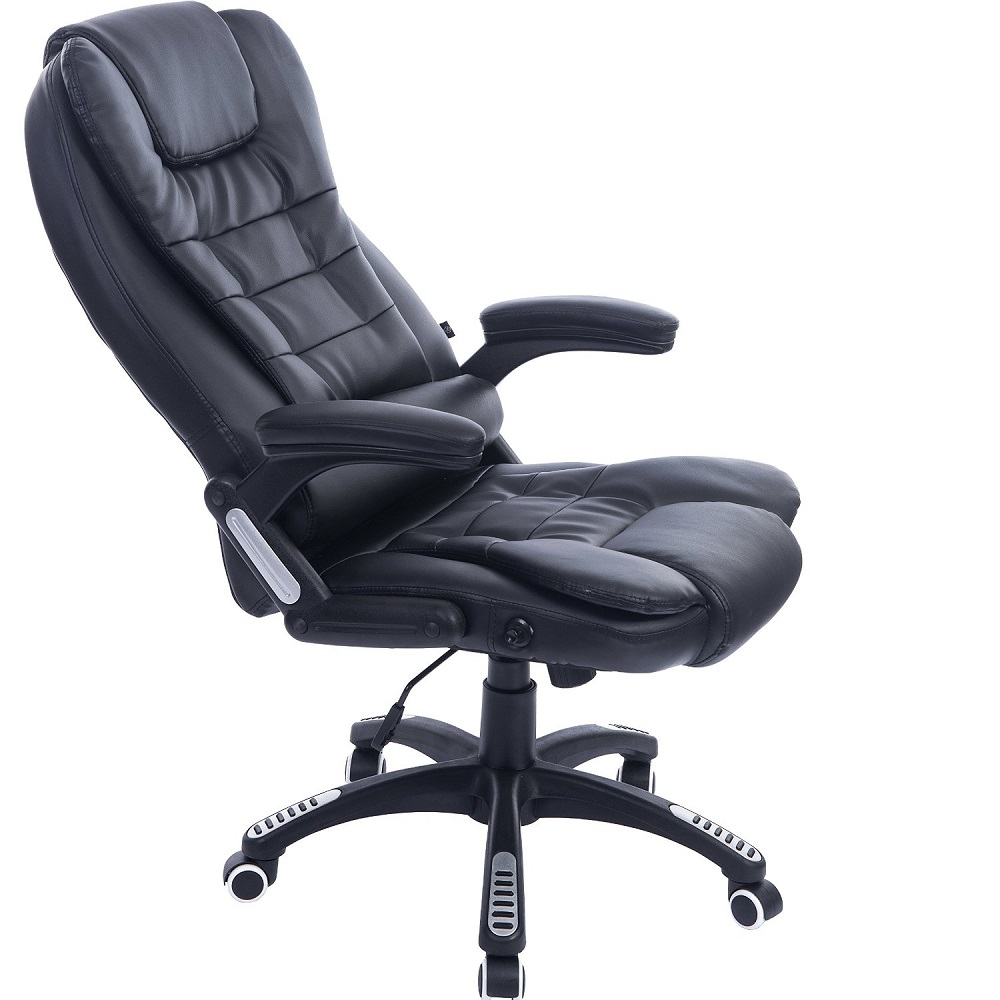 Executive Black Leather Reclining Massage Office Computer