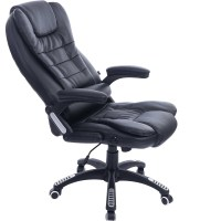 Executive Black Leather Reclining Massage Office Computer ...