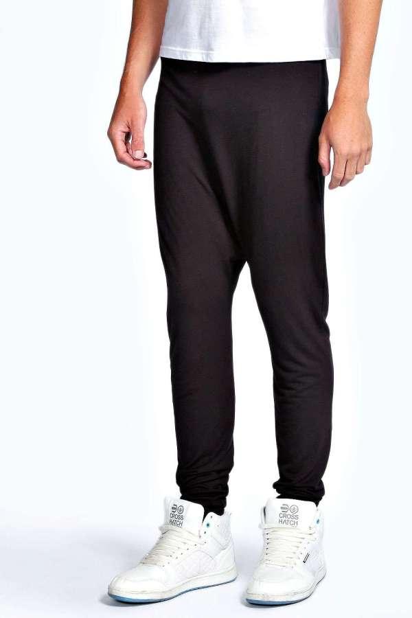 Boohoo Mens Drop Crotch Pants Trousers Treggings Leggings