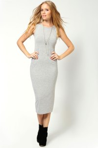 Boohoo Lindsey Sleeveless Calf Length Midi Dress | eBay