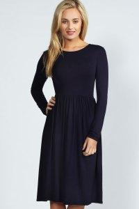 Boohoo Womens Ladies Mia Long Sleeve Midi Dress | eBay