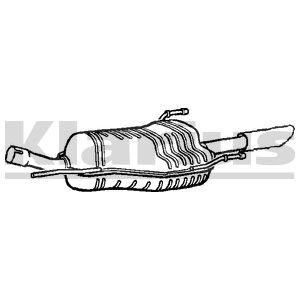 VAUXHALL ZAFIRA A 1.8 16V MPV back box 2000-2005 Exhaust