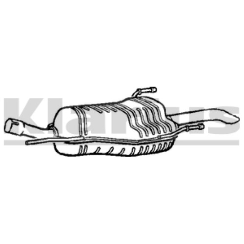 Vauxhall Zafira 1.6 16V 2003-2005 TDI Exhaust Rear Back
