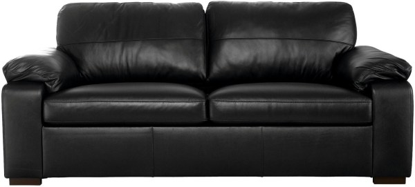 Ashmore 3 Seater Corrected Grain Real Leather Sofa Bed
