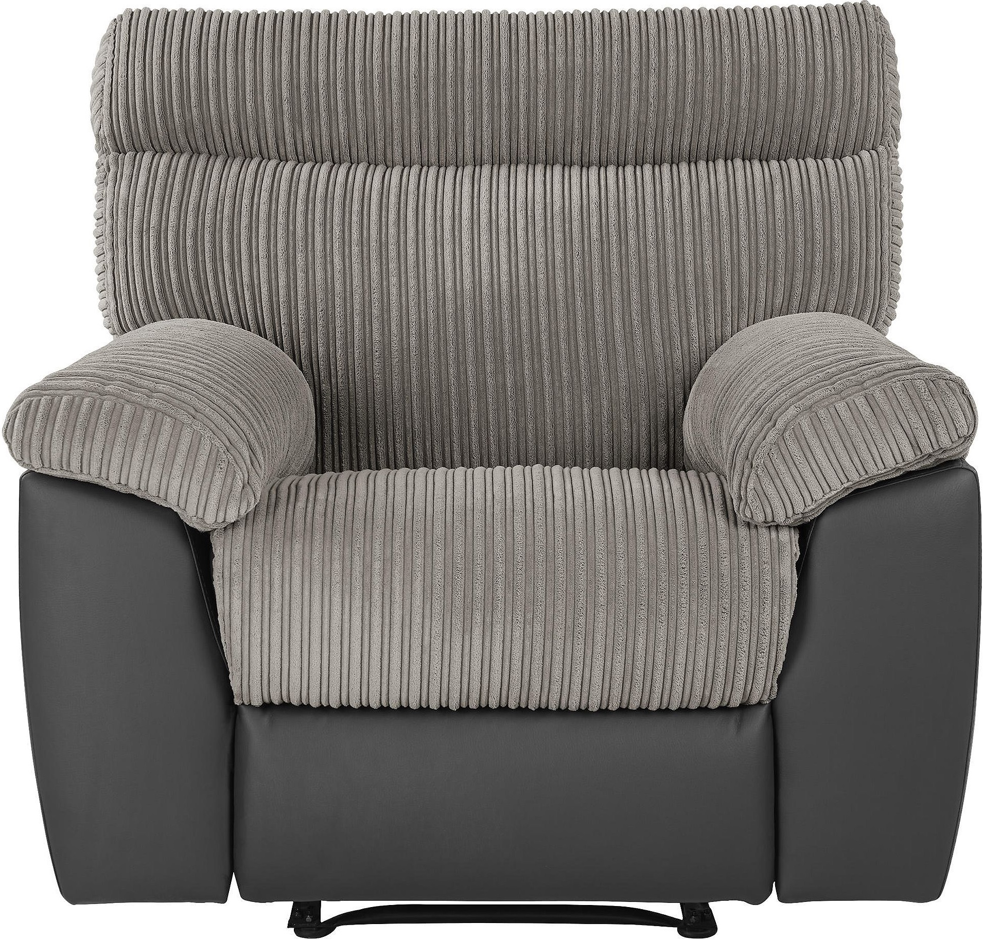 grey leather recliner chair uk stokke high sale new dorset faux and jumbo cord arm