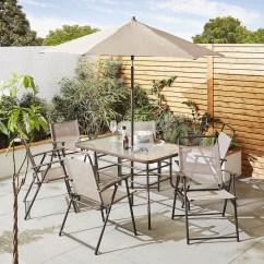 Garden Chair Covers Tesco Wheel Karachi New Hawaii 8 Piece Patio Dining Furniture Set